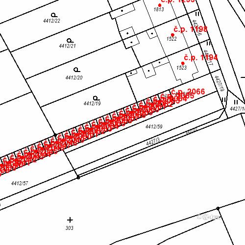 Katastrální mapa Stavební objekt Kojetín I-Město 2060, Kojetín