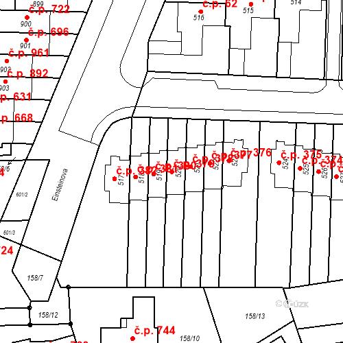 Katastrální mapa Stavební objekt Neředín 379, Olomouc