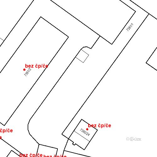 Katastrální mapa Stavební objekt Prostějov 4225, Prostějov