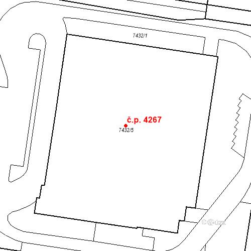 Katastrální mapa Stavební objekt Prostějov 4267, Prostějov