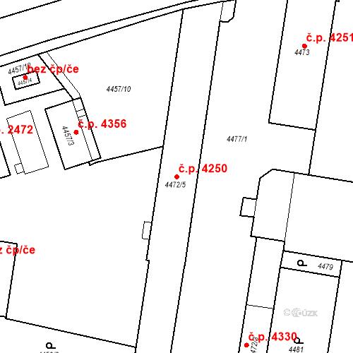 Katastrální mapa Stavební objekt Prostějov 4250, Prostějov