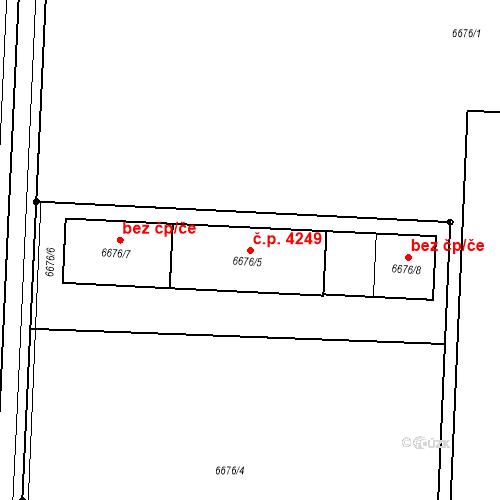 Katastrální mapa Stavební objekt Prostějov 4249, Prostějov