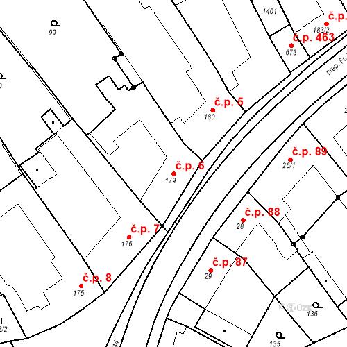 Katastrální mapa Stavební objekt Senice na Hané 6, Senice na Hané