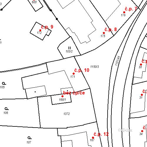 Katastrální mapa Stavební objekt Senice na Hané 10, Senice na Hané