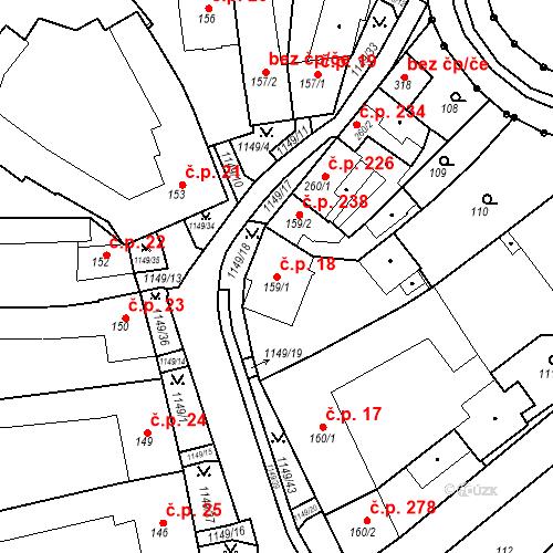 Katastrální mapa Stavební objekt Senice na Hané 18, Senice na Hané