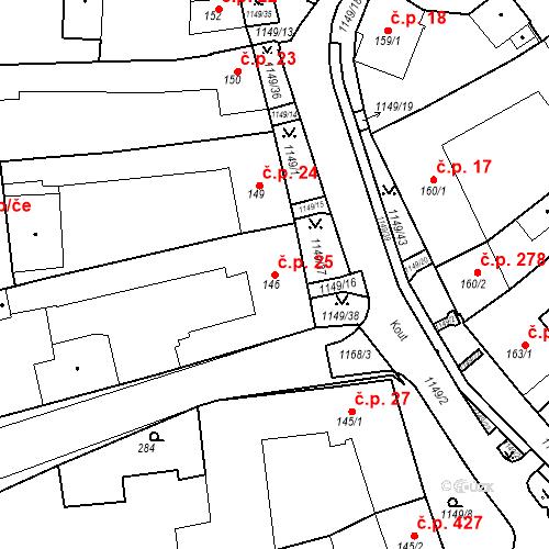 Katastrální mapa Stavební objekt Senice na Hané 25, Senice na Hané