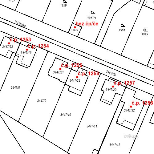 Katastrální mapa Stavební objekt Ratíškovice 1256, Ratíškovice
