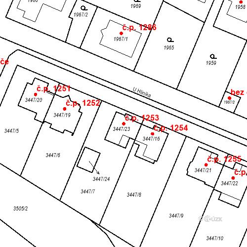 Katastrální mapa Stavební objekt Ratíškovice 1253, Ratíškovice