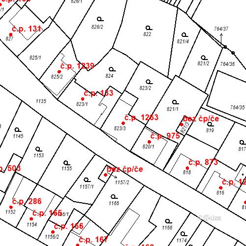 Katastrální mapa Stavební objekt Ratíškovice 1263, Ratíškovice