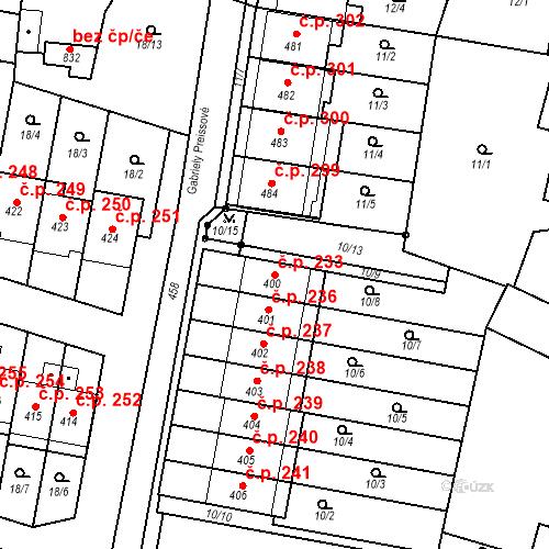 Katastrální mapa Stavební objekt Krasice 233, Prostějov