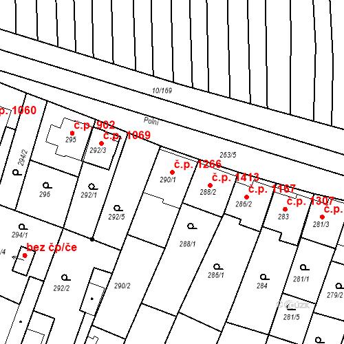 Katastrální mapa Stavební objekt Ratíškovice 1266, Ratíškovice