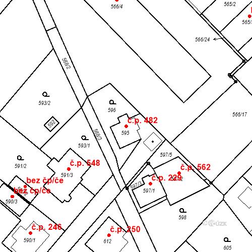 Katastrální mapa Stavební objekt Vikýřovice 482, Vikýřovice