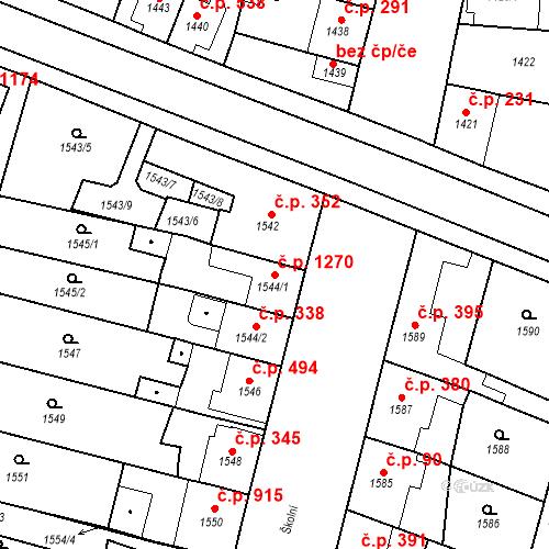 Katastrální mapa Stavební objekt Ratíškovice 1270, Ratíškovice