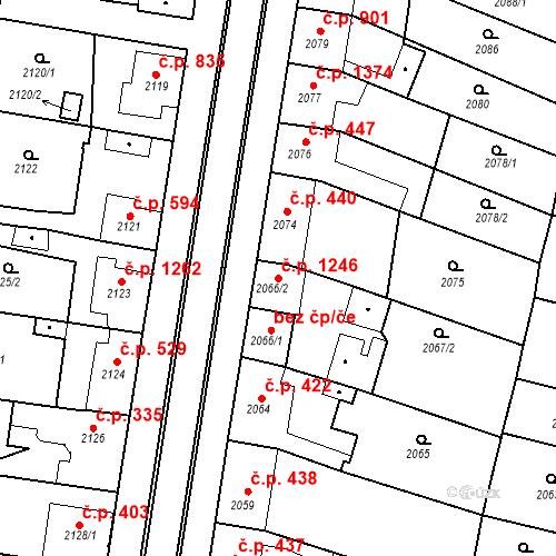 Katastrální mapa Stavební objekt Ratíškovice 1246, Ratíškovice