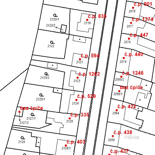 Katastrální mapa Stavební objekt Ratíškovice 1262, Ratíškovice