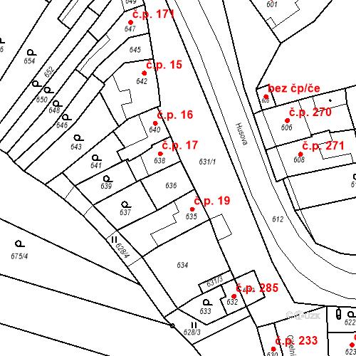 Katastrální mapa Stavební objekt Brodek u Prostějova 18, Brodek u Prostějova