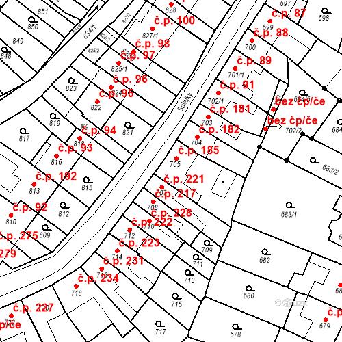 Katastrální mapa Stavební objekt Brodek u Prostějova 220, Brodek u Prostějova