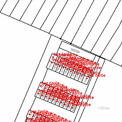 Katastrální mapa Stavební objekt Nětčice 990, Kyjov