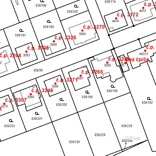 Katastrální mapa Stavební objekt Hodonín 3265, Hodonín