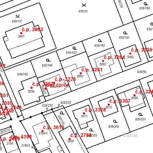 Katastrální mapa Stavební objekt Hodonín 3261, Hodonín