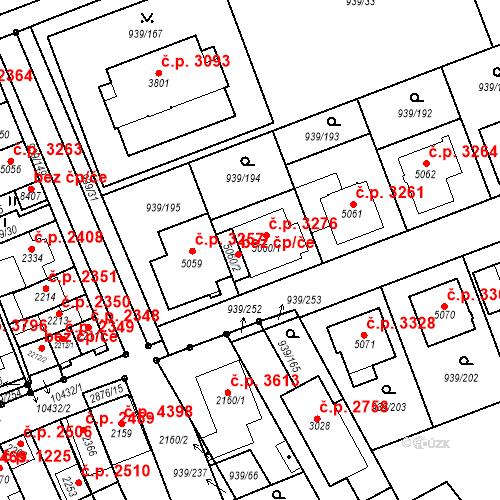 Katastrální mapa Stavební objekt Hodonín 3276, Hodonín