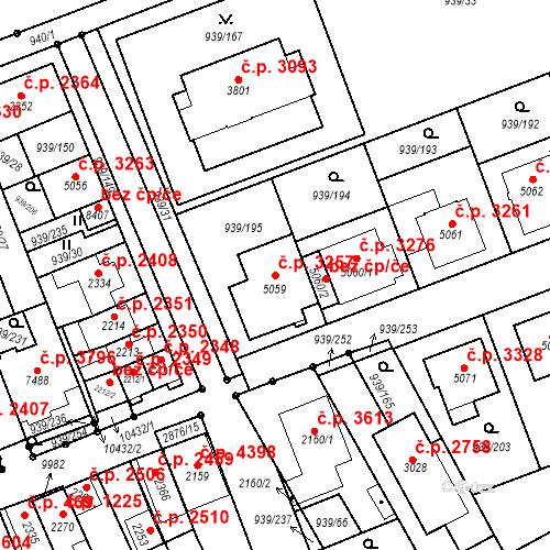 Katastrální mapa Stavební objekt Hodonín 3257, Hodonín