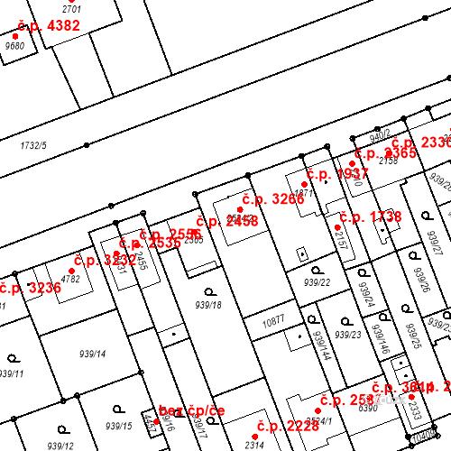 Katastrální mapa Stavební objekt Hodonín 3266, Hodonín