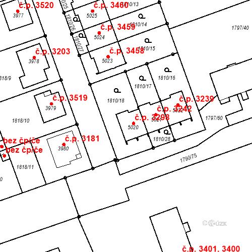 Katastrální mapa Stavební objekt Hodonín 3298, Hodonín
