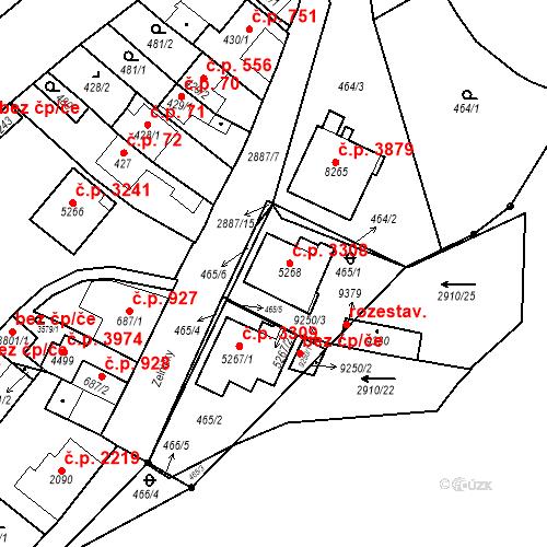 Katastrální mapa Stavební objekt Hodonín 3308, Hodonín