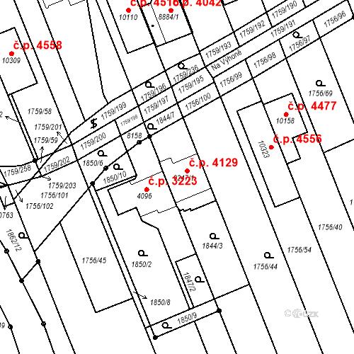 Katastrální mapa Stavební objekt Hodonín 4129, Hodonín