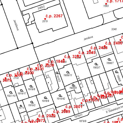 Katastrální mapa Stavební objekt Hodonín 3282, Hodonín