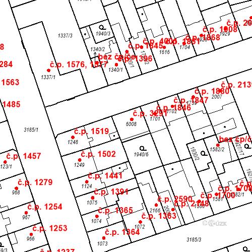 Katastrální mapa Stavební objekt Hodonín 3291, Hodonín
