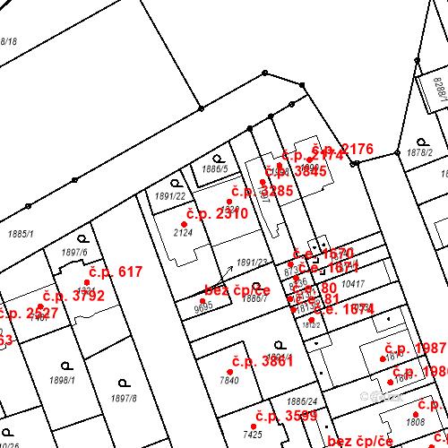 Katastrální mapa Stavební objekt Hodonín 3285, Hodonín