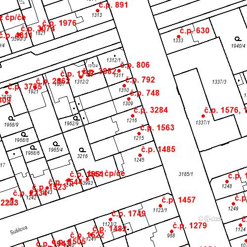 Katastrální mapa Stavební objekt Hodonín 3284, Hodonín