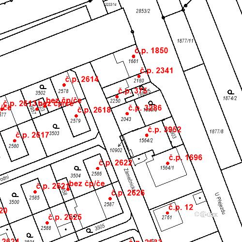 Katastrální mapa Stavební objekt Hodonín 3286, Hodonín