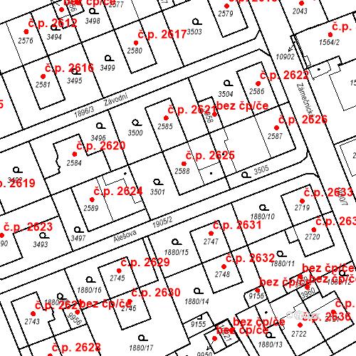 Katastrální mapa Stavební objekt Hodonín 2625, Hodonín