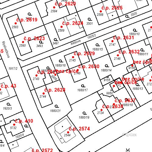 Katastrální mapa Stavební objekt Hodonín 2630, Hodonín