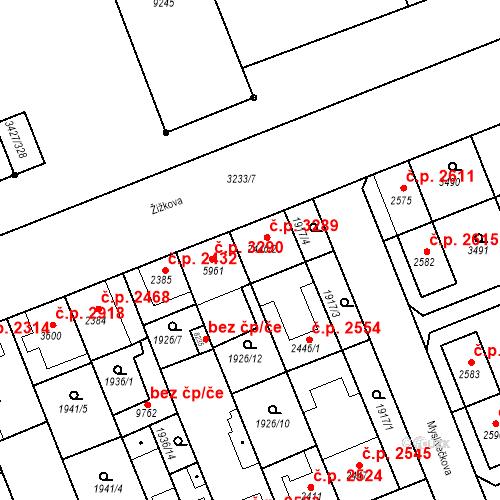Katastrální mapa Stavební objekt Hodonín 3289, Hodonín