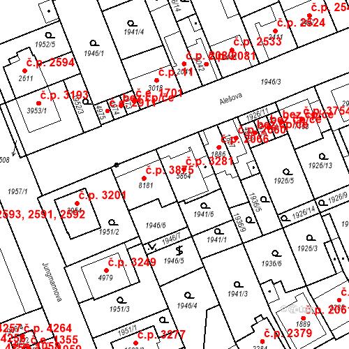 Katastrální mapa Stavební objekt Hodonín 3281, Hodonín