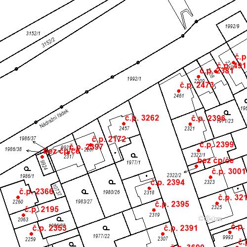 Katastrální mapa Stavební objekt Hodonín 3262, Hodonín