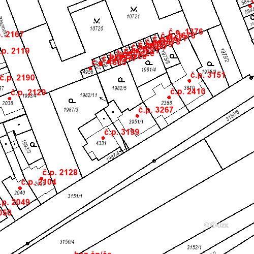 Katastrální mapa Stavební objekt Hodonín 3267, Hodonín