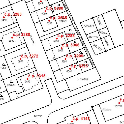 Katastrální mapa Stavební objekt Hodonín 3299, Hodonín