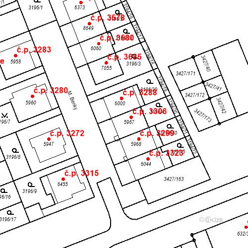 Katastrální mapa Stavební objekt Hodonín 3306, Hodonín