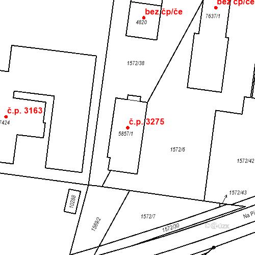 Katastrální mapa Stavební objekt Hodonín 3275, Hodonín