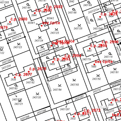 Katastrální mapa Stavební objekt Hodonín 2994, Hodonín