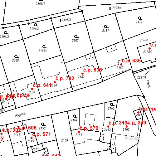 Katastrální mapa Stavební objekt Bučovice 638, Bučovice
