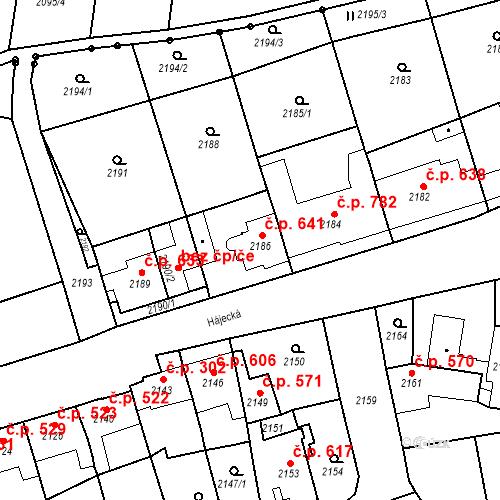 Katastrální mapa Stavební objekt Bučovice 641, Bučovice