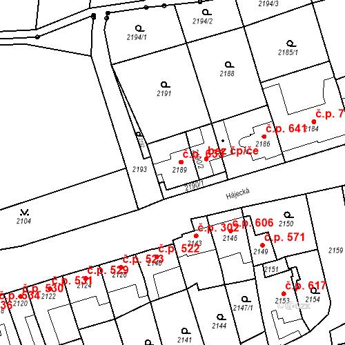 Katastrální mapa Stavební objekt Bučovice 633, Bučovice