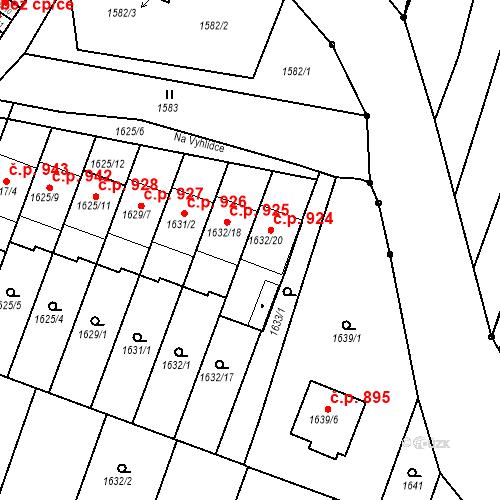 Katastrální mapa Stavební objekt Bučovice 924, Bučovice