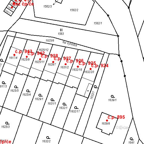 Katastrální mapa Stavební objekt Bučovice 925, Bučovice